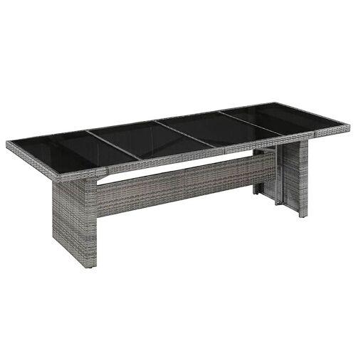 Elior Sielski stół ogrodowy Semma 1Q - szaro-czarny