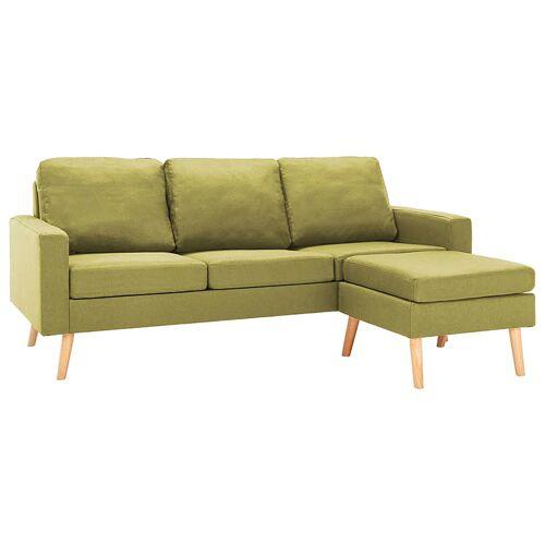 Elior 3-osobowa zielona sofa z podnóżkiem - Eroa 4Q