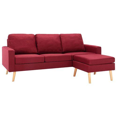 Elior 3-osobowa sofa z podnóżkiem czerwone wino - Eroa 4Q