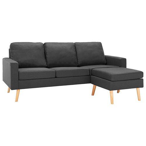 Elior 3-osobowa ciemnoszara sofa z podnóżkiem - Eroa 4Q