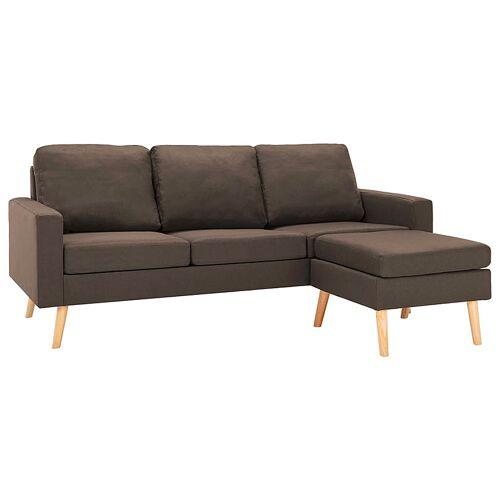 Elior 3-osobowa brązowa sofa z podnóżkiem - Eroa 4Q