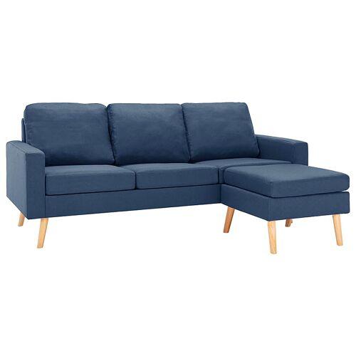 Elior 3-osobowa niebieska sofa z podnóżkiem - Eroa 4Q