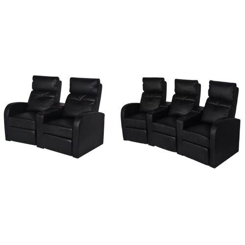 Elior Zestaw dwóch foteli kinowych Mevic 4X – czarne