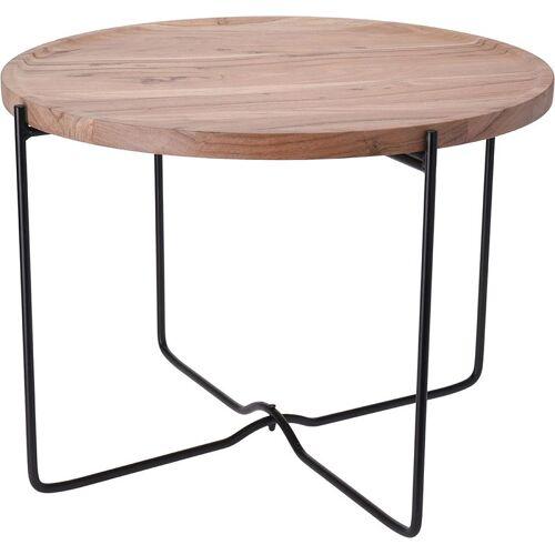 Producent: Elior Loftowy stolik kawowy Sulli 58 cm - drewniany