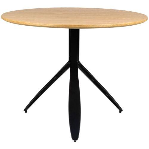 Elior Okrągły stół drewniany do jadalni i salonu - Okaro