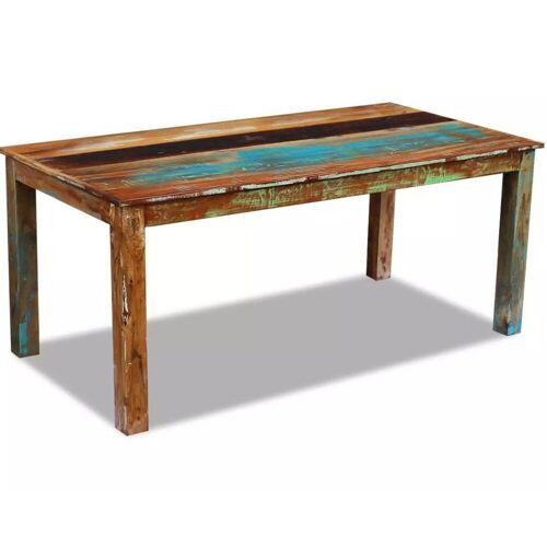 Elior Wielokolorowy stół z drewna odzyskanego – Ratel 2X