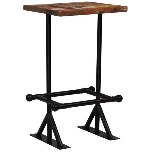 Elior Kolorowy, drewniany stolik barowy – Sidden 2X