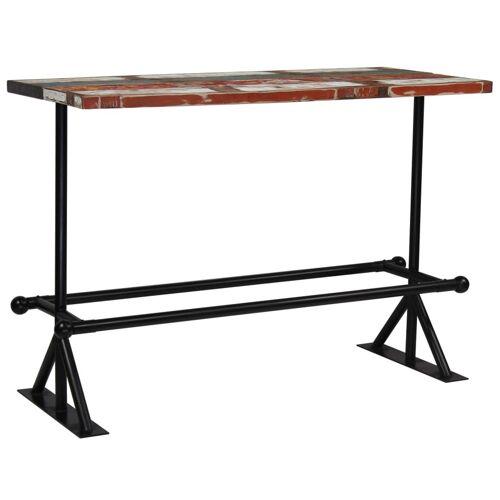 Elior Kolorowy, drewniany stolik barowy – Sidden 4X