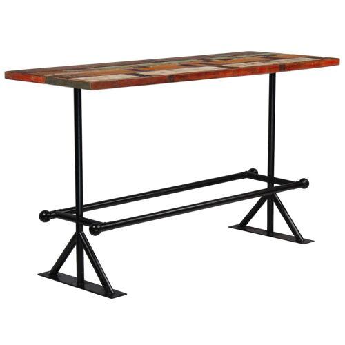 Elior Kolorowy, drewniany stolik barowy – Sidden 5X