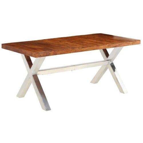 Elior Brązowy stół z litego drewna – Midian