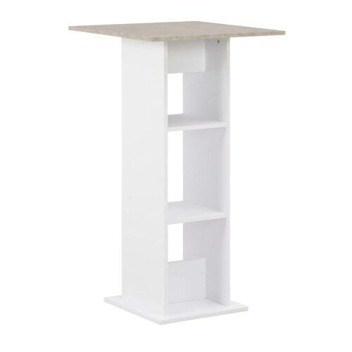 Elior Stolik barowy kuchenny Kira – biało-betonowy