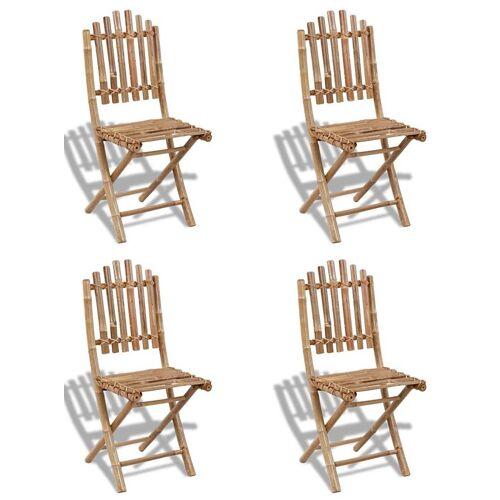 Elior Składane krzesła bambusowe Javal - 4 szt.