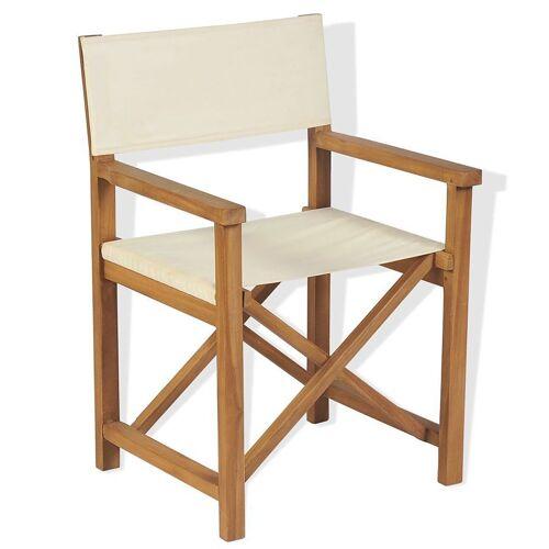 Elior Składane tekowe krzesło reżyserskie Bonet