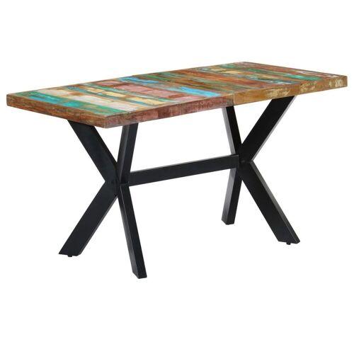 Elior Wielokolorowy stół z drewna odzyskanego – Kalis 3X