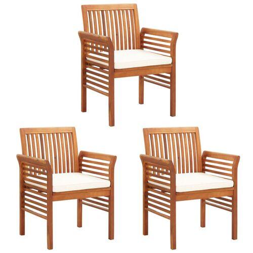 Elior Krzesła ogrodowe akacjowe Kioto 3X - 3szt