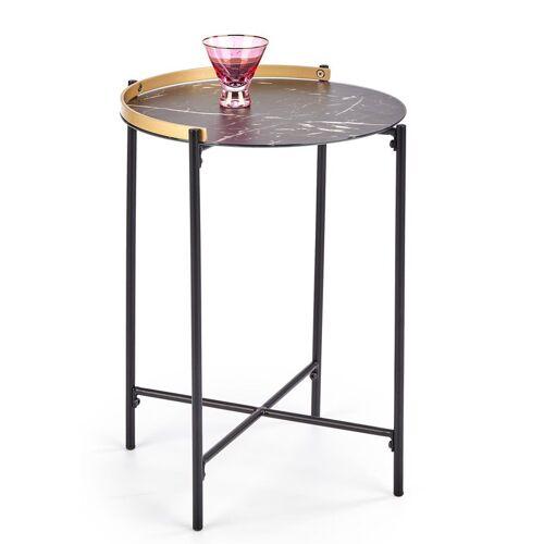 Producent: Elior Marmurkowy stolik kawowy Onyx - Czarny