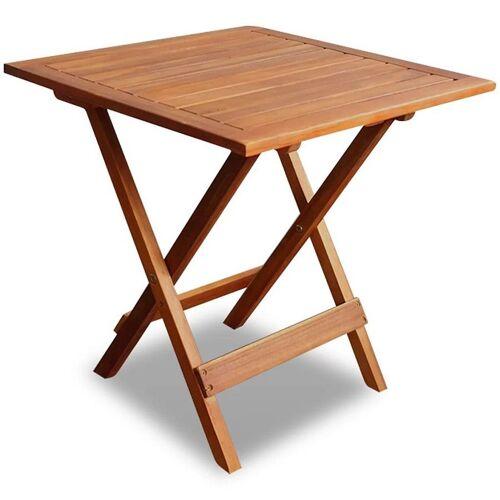 Elior Brązowy drewniany stolik ogrodowy - Caden