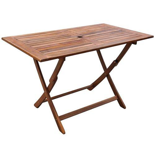 Elior Rozkładany stół ogrodowy Amitia z drewna akacjowego