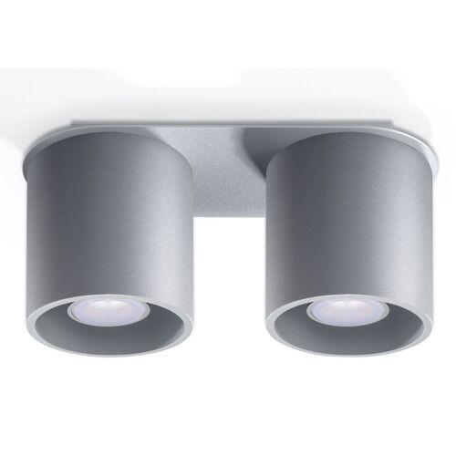 Lumes Podwójny plafon LED E761-Orbil - szary