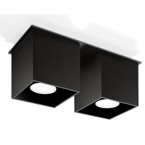 Lumes Podwójny plafon LED E767-Quas - czarny