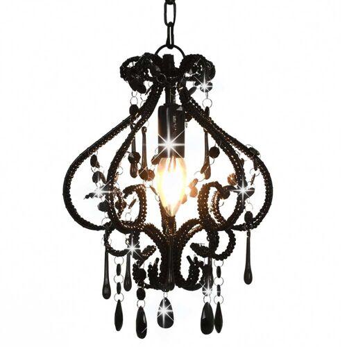 Lumes Czarna lampa sufitowa z koralikami - EX168-Belisa