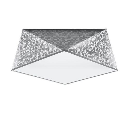 Lumes Srebrny designerski plafon - EX590-Hexi