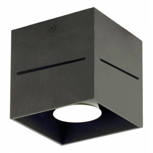 Lumes Plafon do sypialni E162-Quade - czarny