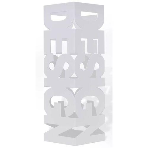 Elior Biały ażurowy stojak na parasole - Nauro 4S