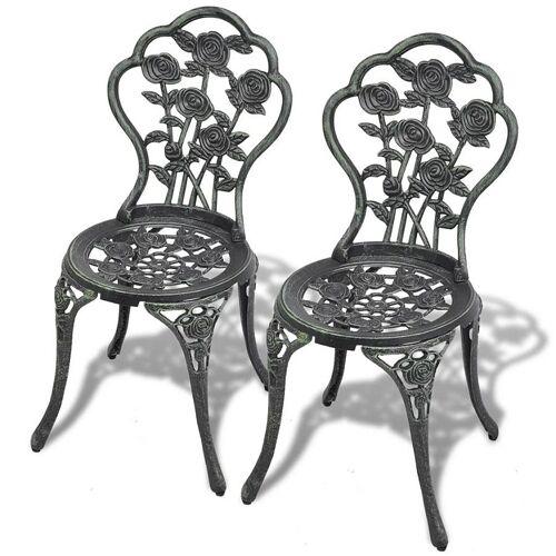 Elior Zestaw metalowych krzeseł ogrodowych Mesa - zielony