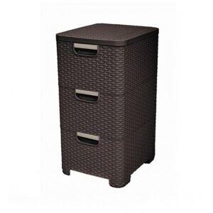 CURVER Regał z szufladami 3x14L STYLE ciemny brąz