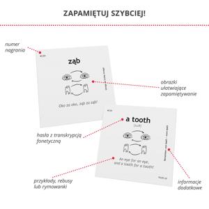 Fiszki Obrazkowe - Angielski czarno na białym - krok 1 - Skuteczna i Szybka Metoda Nauki Języka Angielskiego