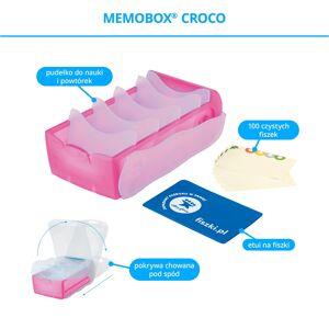 FISZKI Memobox Croco Pink - Plastikowy - Pudełko Do Szybkiej i Skutecznej Nauki Języka Obcego