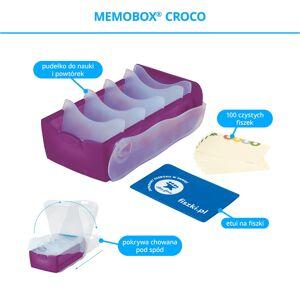 FISZKI Memobox Croco Violet - Plastikowy - Pudełko Do Szybkiej i Skutecznej Nauki Języka Obcego