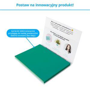 FISZKI Przyczepki - 100 Turkusowych Karteczek Elektrostatycznych