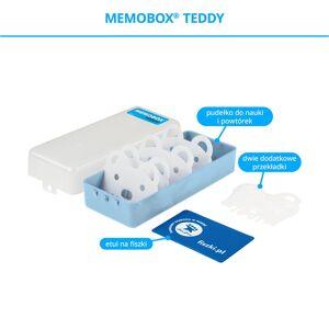 FISZKI Memobox Teddy Blue - Plastikowy - Pudełko Do Szybkiej i Skutecznej Nauki Języka Obcego