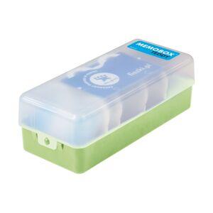 FISZKI Memobox Teddy Green - Plastikowy - Pudełko Do Szybkiej i Skutecznej Nauki Języka Obcego