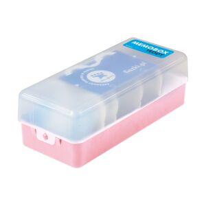 FISZKI Memobox Teddy Pink - Plastikowy - Pudełko Do Szybkiej i Skutecznej Nauki Języka Obcego
