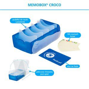 FISZKI Memobox Croco Blue - Plastikowy - Pudełko Do Szybkiej i Skutecznej Nauki Języka Obcego