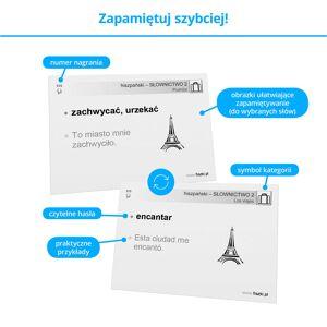 Fiszki Hiszpański - Słownictwo 2 - Skuteczna i Szybka Metoda Nauki Języka Hiszpańskiego