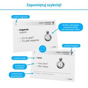 Fiszki Rosyjski - Starter - Skuteczna i Szybka Metoda Nauki Języka Rosyjskiego