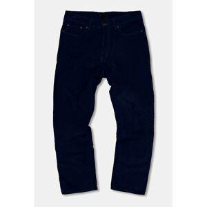 JP1880 Duże rozmiary Spodnie sztruksowe FLEXNAMIC®, mężczyzna, niebieski, rozmiar: 52, bawełna/elastan, JP1880