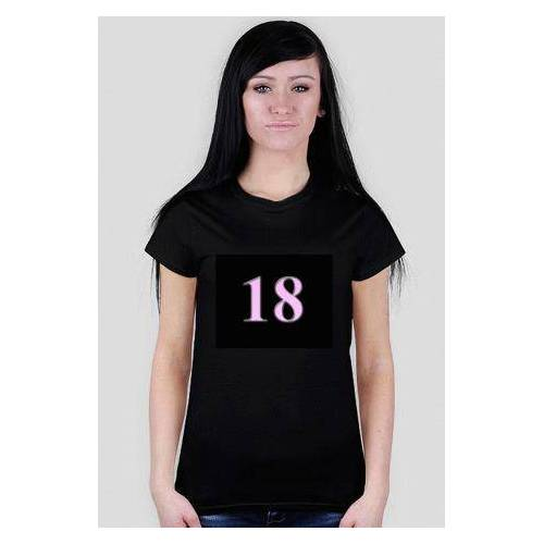 prezent-na-18-dla-dziewczyny Koszulka dla dziewczyny na 18 lady black