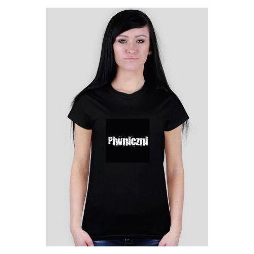 piwniczni Czarna damska koszulka piwnicznych