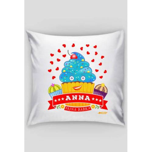 dudle Anna fajna babka - poszewka dekoracyjna na poduszkę jaśka