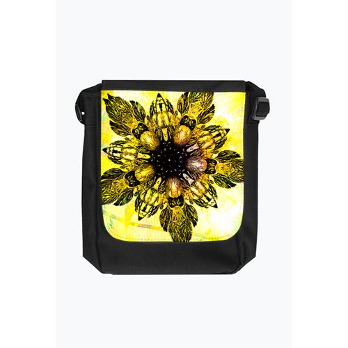 salma Barokowy złoty kwiat torba