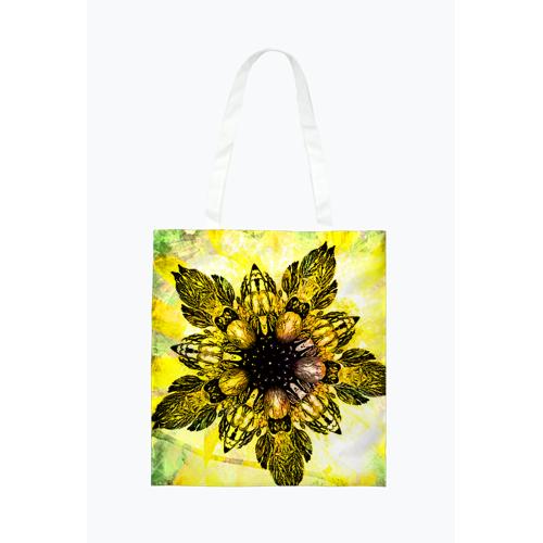salma Barokowy złoty kwiat torba zakupowa