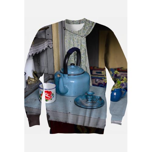 ART Bluza z nadrukiem czajnik