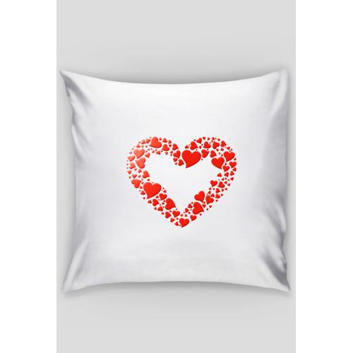 pixelex Poduszka dekoracyjna z czerwonym sercem