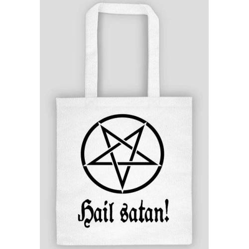infernalmask Hail satan, pentagram, black metal bag/torba