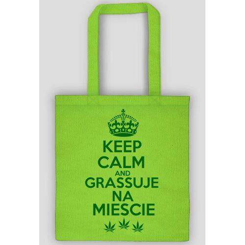 trawka Keep calm and grassuje na mieście- torba - marihuana - konopie- grass - trawka